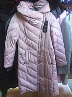 Зимняя стеганое пальто-куртка с капюшоном