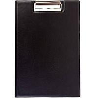 Папки-планшеты Бриск ППВ-1 черный,коричне А4 покр ПВХ, мет клип