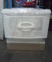 Комод пластиковый Консенсус белый на колёсиках