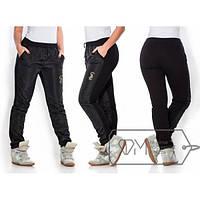 Женские теплые спортивные штаны, зимние, черные, большие размеры