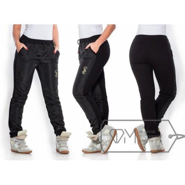 ddf553f9 Женские теплые спортивные штаны, зимние, черные, большие размеры ...