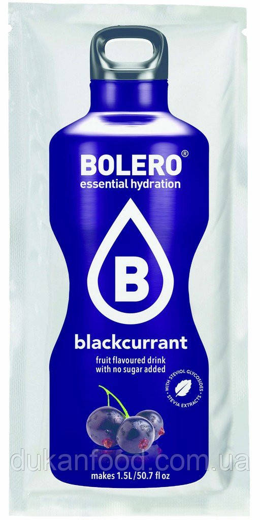 Bolero Drinks без сахара ЧЕРНАЯ СМОРОДИНА