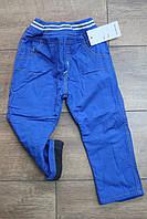 Утепленные катоновые брюки на флисе 1- 3 года