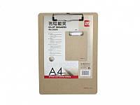Планшет Deli 9226 коричневый А4 пробковый с мет/клип