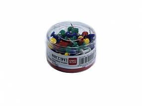 Кнопки Deli 0042 микс 80шт силовые цветн банка