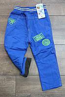 Утепленные катоновые брюки на флисе  2 года
