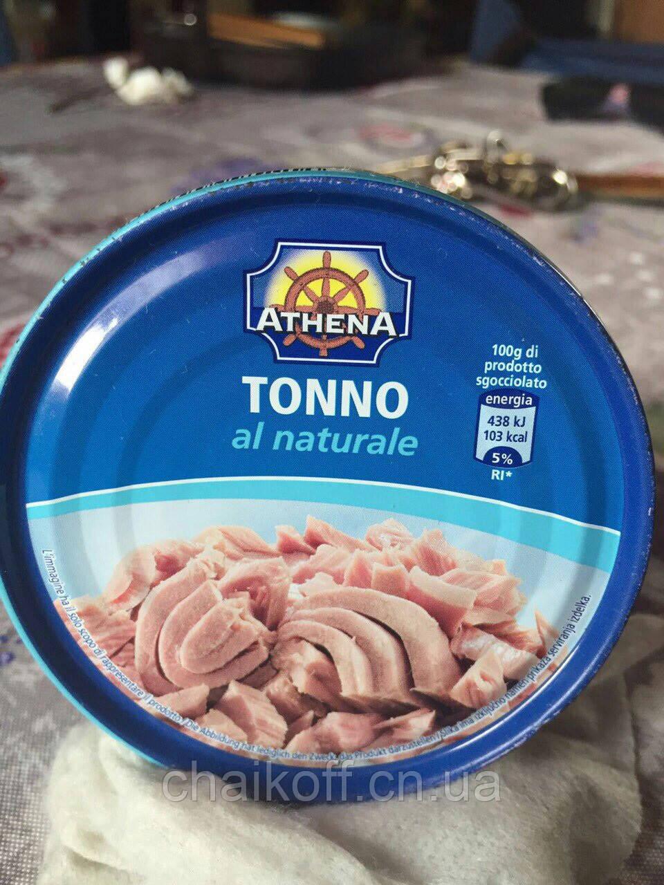 Тунец в собственном соусе ATHENA 160г