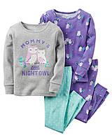 Комплект пижам Carters из 4-ех единиц; 2, 3, 4 года