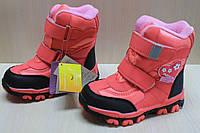 Термо сапоги на девочку, зимняя обувь, теплые розовые сапожки тм Tom.m р. 31,32