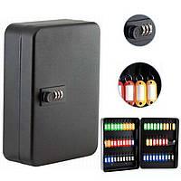 Шкафчик для ключей Buromax 0412 черный 57 матовый с брелками