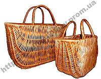 Набор плетеных сумок 2шт, фото 1