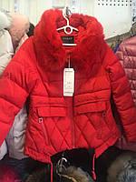 Зимняя куртка с мехом и капюшоном 2 цвета