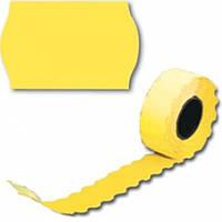 Ценник рулонный желтый А12(26х12),6м, 500шт,фигурн