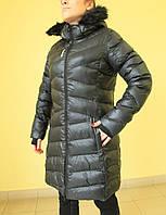 Женский зимний плащ  Reebok 2719 чёрный  код 2036А