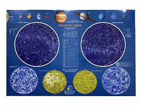 Карта настенная Ипт 45х65 Звездное небо (ламин) М1:35000000