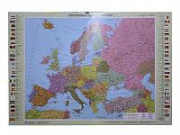 Карта настенная Ипт 45х65 Европа. Политическая карта (картон) М1:10000000
