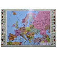 Карта настенная Ипт 77х110 Европа. Политическая карта (картон) М1:5400000