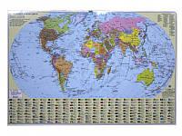 Ипт 45х65 Мир.Полическая карта (ламин) М1:54000000