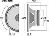 Monacor SPH-200TC Низкочастотный динамик, фото 3