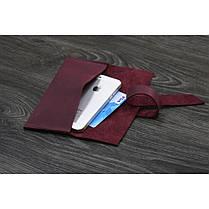 Кожаный чехол для смартфона Виноград, фото 3