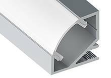 Угловой алюминиевый профиль для LED лент  с рассеивателем