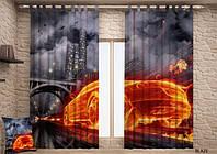 Фото шторы Пламя