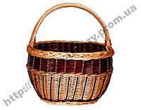 Плетеная корзина овальная, фото 1
