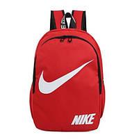 Городской рюкзак Nike красный с белым логотипом