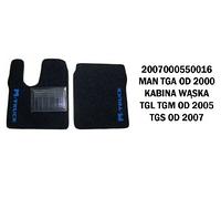 Коврик велюр MAN TGA от 2000 узкая кабина, TGL,TGM от 2005, TGS  от 2007 /2984