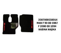 Коврик велюр MAN F90 от 1987, F2000 от 1994 узкая кабина/2980