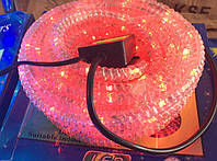 Дюралайт, светодиодный дюралайт гафрированный  LED 10 м красный