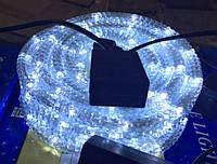 Дюралайт, светодиодный дюралайт гафрированный  LED 10 м белый