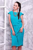 Легкое и воздушное лазурное платье из шифона