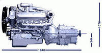 Двигатель ямз 236бе2 ,стандарт евро 2,250 л.с