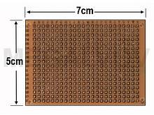 Макетная плата 50x70 мм, шаг 2,54мм 5x7см