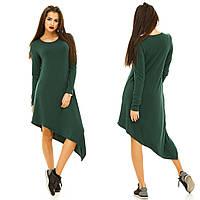 Асимметричное стильное платье свободного покроя