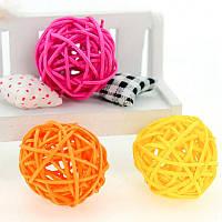 Набор плетеных шаров из ротанга (цвет: фуксия), Craft, клип, декор (10 шт.)