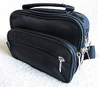 Мужская сумка через плечо Барсетка деловая жатка 19х14х7см