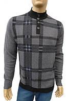 Элитный мужской кашемировый свитер с горловиной на пуговицах