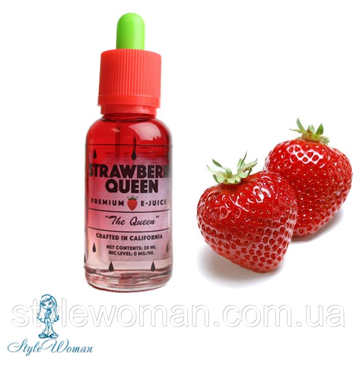 Премиум жидкость для электронных сигарет Strawberry Queen THE QUEEN 30ml