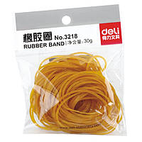 Резинки для купюр Deli 3218 желтый 30гр, D40мм, високопрочн резина, блистер