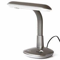 Лампы настольные Deli 3672 микс 1W овальний плафон стальная гибкая ножка
