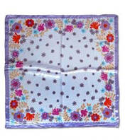 Платок шейный фиолетовый