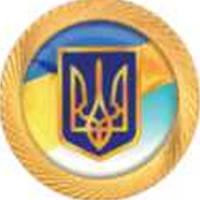 """Значок """"Герб Украины"""" ф32 (сатурн) позол."""