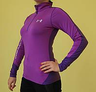 Футболка женская фиолетовая X-FIT длинный рукав (9028-2) код 2046Д