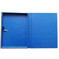 Футляр 284х374 кож/зам. синий для плакетки