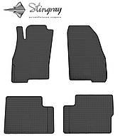Fiat Punto  2006- Комплект из 4-х ковриков Черный в салон