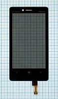 Тачскрин сенсорное стекло для Nokia 810 black