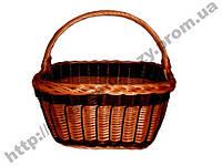 Плетеная корзинка из лозы