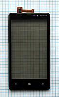 Тачскрин сенсорное стекло для Nokia Lumia 820 with frame black